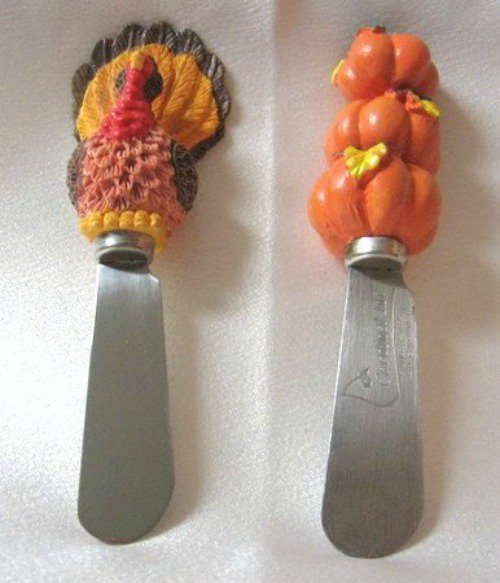Small Spreading Knives Knife Pumpkin Turkey Set Butter Cheese Spreads