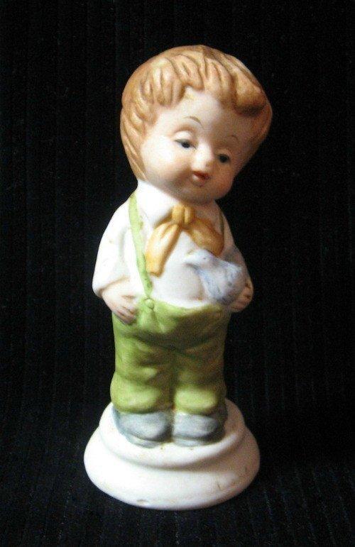 Vintage Hummel Boy Figurine Holding a Bluebird