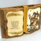 Hummel Kids Vintage Book Shaped Friends Plaque Figurine Retro Decor