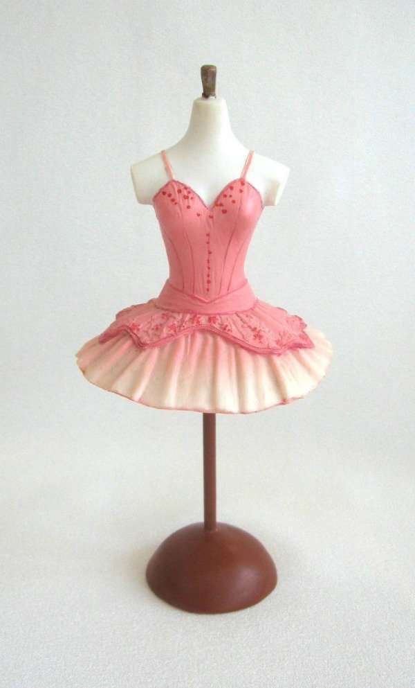 Fancy Pink Dress Mannequin Figurine