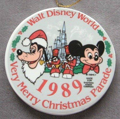 Mickey Mouse Goofy Christmas Ornament Walt Disney World 1989