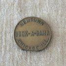 Chicago Illinois Newtown Book A Rama Peep Show Token Vintage