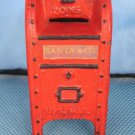 Red U.S. Mail Coin Bank Cast Iron