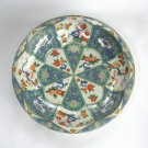 Daher Decorated Ware Tin Bowl Flower Design Vintage 1971 Made in England