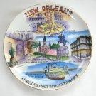 New Orleans Porcelain Collector's Plate Vintage Norleans Japan