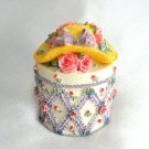 Yellow Flower Hat Trinket Box Made Strong