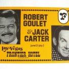 Large Vintage Postcard Robert Goulet Jack Carter Frontier Hotel Casino Las Vegas Nevada