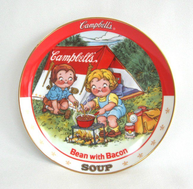 The Edge Danbury >> Campbell's Bean With Bacon Soup Collector's Plate 1994 The Danbury Mint