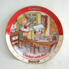 Campbell's Chicken With Rice Soup Collector's Plate 1994 The Danbury Mint