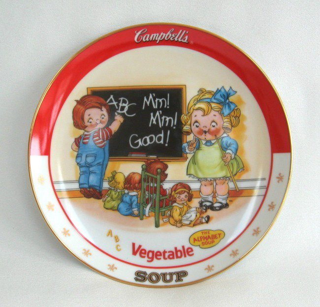 Campbell's Vegetable Soup Collector's Plate 1994 The Danbury Mint