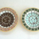 Handcrafted Coasters Set Of 2 Vintage Mosaic Tile Japan Retro