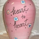 Large Pink Ceramic Vase Heart To Heart By Bella Casa Ganz
