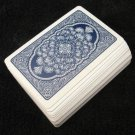 Vintage Blue & White Lombardy Playing Cards Full Deck Linen Finish Arrco Chicago