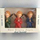 Vintage 1950's Praying Angels Hand Decorated Ornaments British Hong Kong