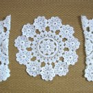Crocheted Doilies Set Of 3 White Handcrafted Vintage