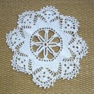 Vintage White Handcrafted Crocheted Doily 50s