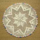 Vintage Handmade Doily Colorful Edges Crocheted Doilies 2 Available