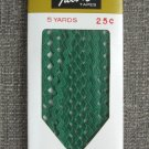 Kelly Green Rick Rack Vintage Sewing Supplies Donahue Decorative Trim Crafts 100% Cotton