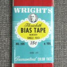 Wright's Red Flexicloth Bias Tape Single Fold Nainsook Vintage Sewing Supplies 6 Yards