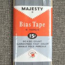Majesty Grey Bias Tape Single Fold Percale Vintage Sewing Supplies 6 Yards