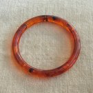 Vintage Amber Transparent Bangle Bracelet