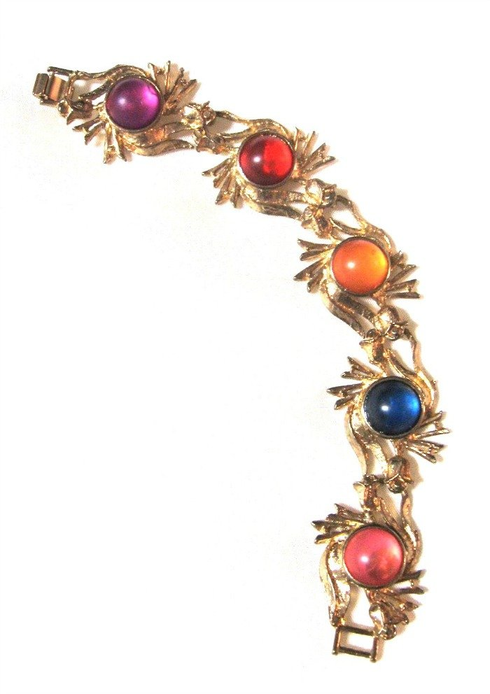 Retro Colorful Cabochon Bracelet Vintage