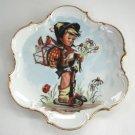 Porcelain Collector's Plate Vintage Hummel Boy Unique Shape