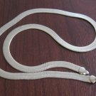 "Wide Gold Vintage Herringbone Chain Necklace 18""L x 1/4""W Made Strong"