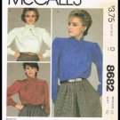 Misses Blouses McCall's Sewing Pattern No. 8682 Size 18 Vintage 1983