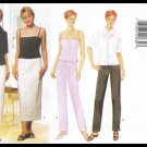 Misses Shirt Camisole Skirt Pants Butterick Sewing Pattern No. 6080 Sizes 6 to 10