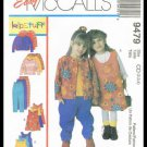 Easy McCall's Sewing Pattern Kids Children Girls Wardrobe Jumper Jacket Top Pants Sizes 2-4