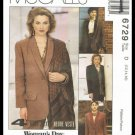 McCalls Sewing Pattern #6729 Woman's Day Collection 4 Hour Jacket Misses Sizes 12-16