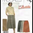 Vintage 1985 McCall's Sewing Pattern Easy Fit Skirt Misses Size 16 No. 2152