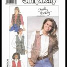Vintage Simplicity Sewing Pattern No. 9373 Christie Brinkley Collection Lined Vests Misses 14-20