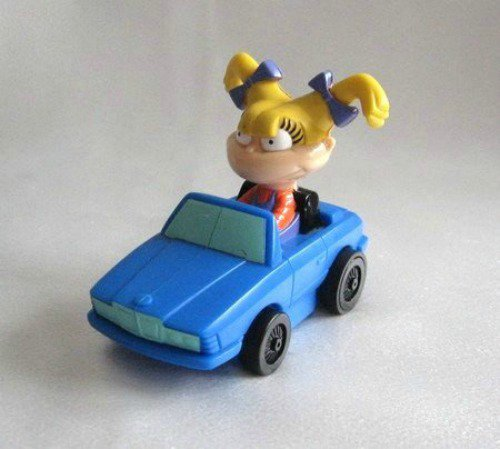 Angelica Rugrats With Spinning Pigtails Toy Car Collectible 1998 Nickelodeon