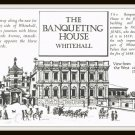 Vintage Brochure The Banqueting House Whitehall London United Kingdom Promo Card Info