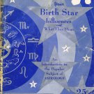 Your Birth Star Influences An Introduction To Astrology By Stanley Barrett Rare Vintage 1940 Book