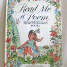 Read Me A Poem Children's Favorite Poetry By Ellen Lewis Buell Hardcover Book Vintage 1974