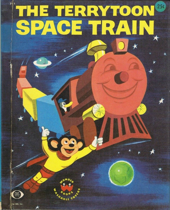 The Terrytoon Space Train By Barbara Waring Wonder Book Vintage 1958 Mighty Mouse