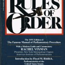 Robert's Rules Of Order General Henry M. Robert Softcover Book 1982