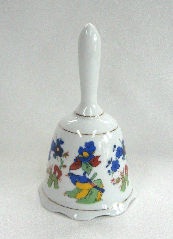 Vintage Colorful Porcelain Bird Bell
