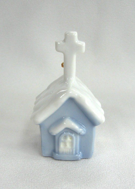 Blue And White Porcelain Church Bell Vintage