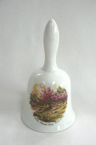 Currier & Ives Porcelain Bell American Homestead Spring Vintage