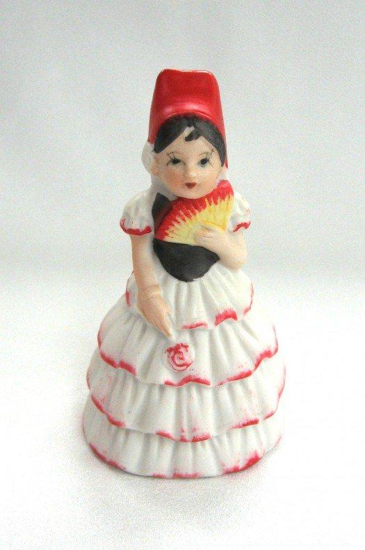 Spanish Latino Lady Bell JSNY Jeffrey Snyder New York Vintage Porcelain