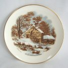 1978 Limited Edition The Old Homestead In Winter Currier & Ives Collector's Plate