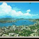 Vintage Postcard Full View Hong Kong & Kowloon Peninsula