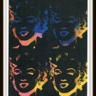 Andy Warhol Marilyn Monroe Print Postcard Four Multicoloured Marylins 1993