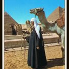 Vintage Postcard Egypt Giza The Sphinx And The Pyramids Of Cheops & Chephren 1950s
