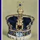 Vintage Postcard Imperial State Crown King George VI London England 1960s