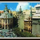 Vintage Postcard Madrid Spain Alcala Street And Jose Antonio Avenue 1960s